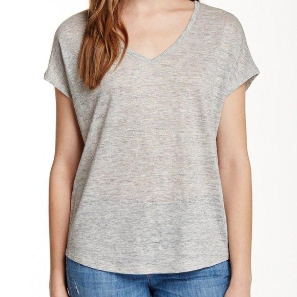 Vince 100% Linen Short Sleeve Tee Shirt